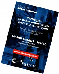 Flyer d'information du Grand Débat National.